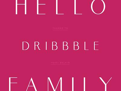 Hello Dribbble! typography dribbble first shot hello dribbble