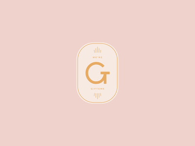 "WIP Submark ""we're gifters"" symbol mark submark logo icon branding design typography"