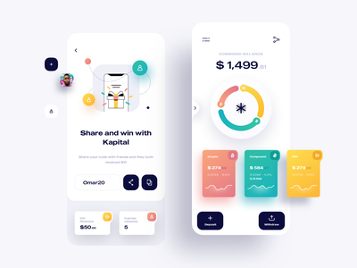 Kapital Wallet | Crypto Currency App Design IOS ios design wallet ux ui sketch ios finance rate exchange design dashboard cryptocurrency clean chart business bitcoin analytics mobile app