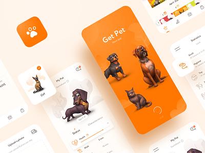 My Pet   IOS App Design ios design app ux ui design icons illustrations mobile design mobile app pet app pets animal clean ios adobe photoshop sketch screen cat dog