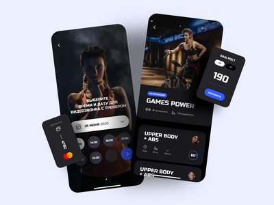 Fitness IOS Design app design ios icons workout sport design ux ui graphic trainer fitness gym exercise movements interface sketch activity app
