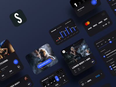 Fitness App | IOS App Design ios icons workout sport design ux ui graphic trainer fitness gym exercise movements interface sketch activity app