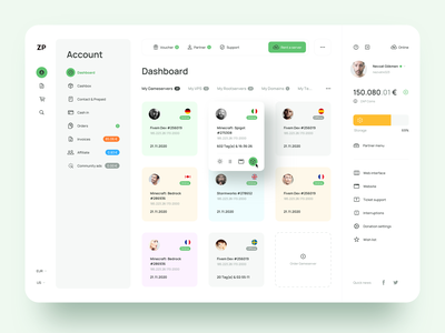 Dashboard Design sketch clean hosting dashboard design ui ux