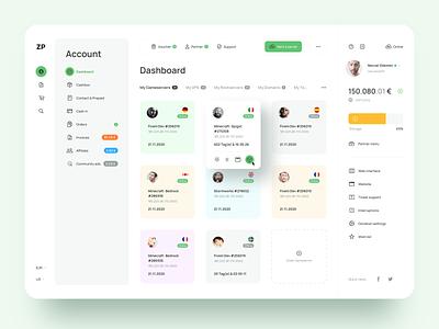 Dashboard Design sketch clean hosting dashboard design ui ux