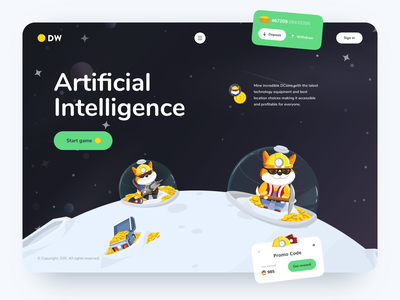 Crypto Mining Game Website concept character sketch illustration game design blockchain crypto design ui ux