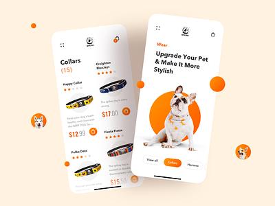 AstroPets - Pet Supplies Shop petshop online shop shopper mobile interface mobile design modern clean sketch design ui ux