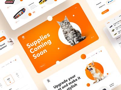 Pet Supplies Web Store clean shopping website concept webs web design ui ux sketch design pet care pets online shop webstore website