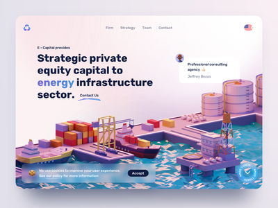 Consulting Agency Landing illustration design ui ux agency landing page consulting website consulting firm