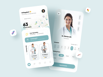 Medical App Concept ios design app concept app design design ui ux doctor appointment medical app medical