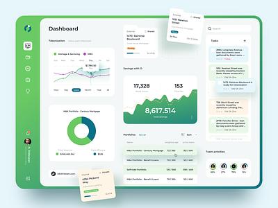 Finance Dashboard Concept UI clean ui ux savings mortgage real estate dashboard design dashboard finance