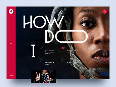 Website Concept USA Gov congress federal gov politics sketch dark mode design ui ux informational service website government