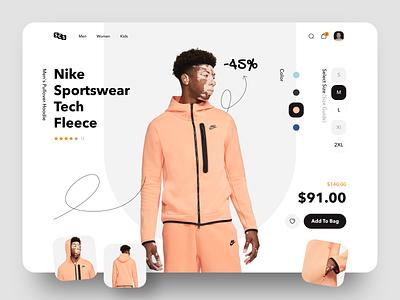 Sportswear Shop Concept activity nike concept design design ui ux sketch online store online shop shopping sportswear sport