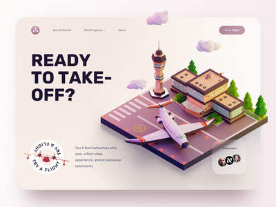 Flight Booking Web airport plane sketch design ui ux illustration 3d art landing page private jet aircraft flight booking flight search flight