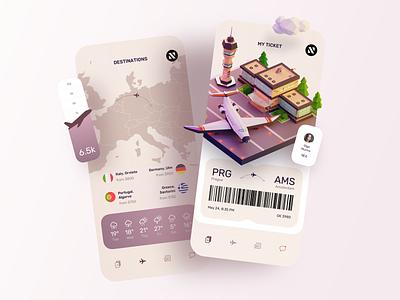 Ticket Booking App app ios sketch design ui ux ios app mobile ui illustration ticket app aircraft airplane flight booking app design ticket booking