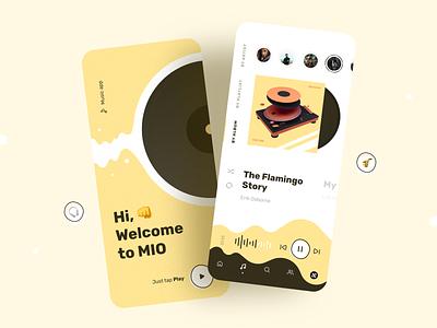 Music Player App Design playlist track audio player music player music app mobile app app design ios design app ios sketch design ui ux