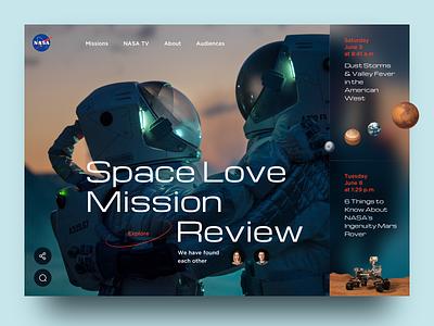 NASA Website Concept responsive adaptive spaceship web design homepage astronaut cosmos sketch ui ux concept design space nasa