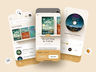 Book Store Mobile App library reader app audiobooks bookshop readding app reading ecommerce mobile app bookstore ebook books app ios sketch design ui ux