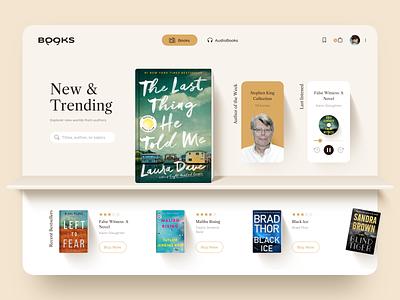 Book Web Store Concept audio book e-book books ecommerce library bookshelf book store website desktop sketch design ui ux