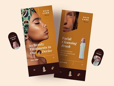 Skin Care Mobile App Concept skin care face care concept fashion product women cosmetics beauty mobile app ios design ui ux