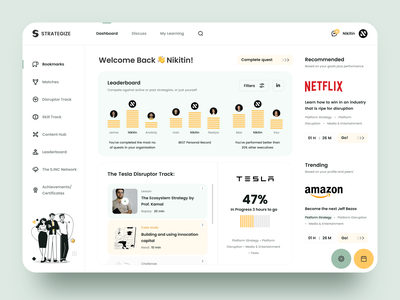 Business Training Dashboard education website design user experience competition training business dashboard sketch design ui ux