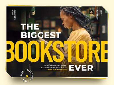 Online Book Store books reading book shop bookstore website design online store webstore sketch design ui ux