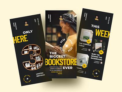 Book Store App library reading book app books bookstore book shop book store mobile app mobile app ios sketch design ui ux