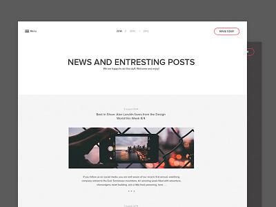 Blog and form blog post news oder form design clean design sinple idea simple design minimalizm