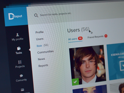 User page user users add friend friends add find people people my friends my contacts design webdesign dashboard