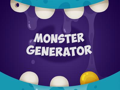 Monster Generator design webdesign ui ux monster monsters generator monster generator alien robot create monster interface
