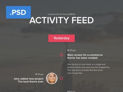 Activity feed  - Free PSD