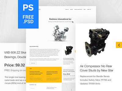 E-commerce Free PSD free psd e-commere template e-commerce ecommerce product shop ux ui
