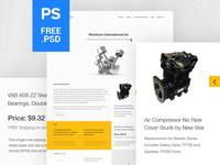 E-commerce Free PSD