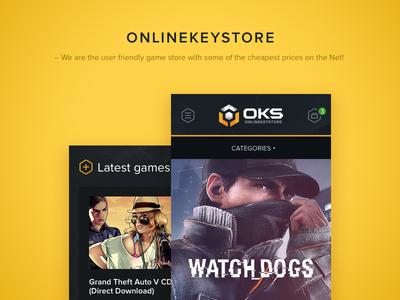 Onlinekeystore redesign e-commerce statistic basket game store mobile e-commerce responsive e-commerce store online store onlinekeystore clean yellow dark