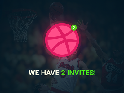 DRIBBBLE INVITE dribbble invites 2 invites invites dribbble invite invite