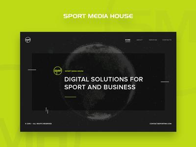 Landing page promo landing agancy digital redesign web ux ui minimal clean simple design dark