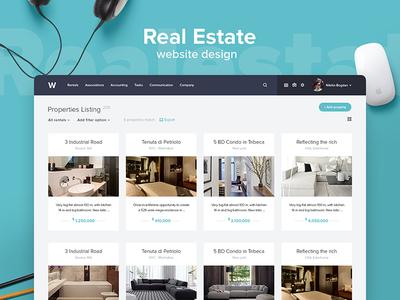 Real Estate Website Design ux ui web design rent room rent listing property list property real estate