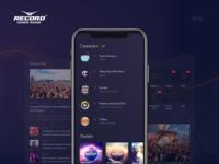 Radio Record Design Concept ios design app black news portal equalizer music website music player record radio