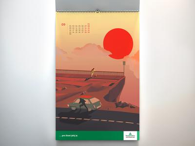2019 Calendar illustration