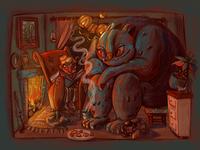 A childbook illustration