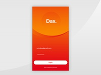 Dax. App Log In Concept
