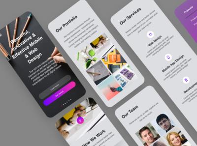 Design Agency Web Responsive Mobile Version typogaphy color mobile ui design