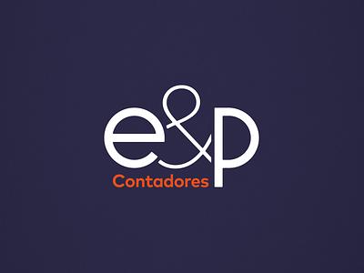 E&P Contadores logo design design grmn accounting type logotipo brand typogaphy logotype