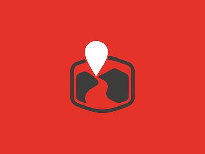 Rundreise Scout map pin agency logo travel logo grmn design isotype logotype branding isologotipo symbol brand logo