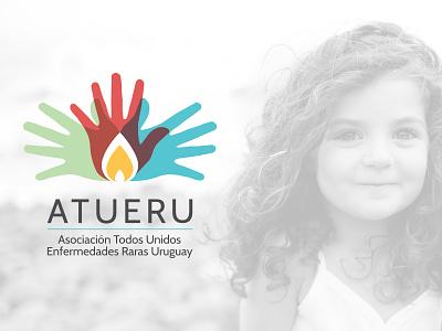 ATUERU (Asociación Todos Unidos Enfermedades Raras Uruguay) redesign website logotype logo brand