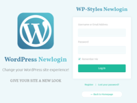 Newlogin Wordpress Dashboard Login Theme Dribbble