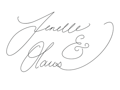 Jenelle & Olaus Wedding Logo ampersand linn olaus identity calligraphy typography lettering hand branding logo wedding