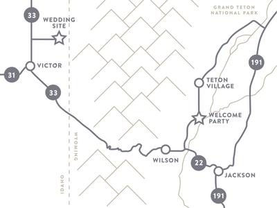 Jenelle And Olaus Wedding Map linn olaus tetons jackson hole minimalist subtle typography map invitation wedding