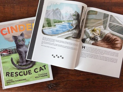 Cinder Rescue Cat Childrens Book publishing printing editorial picture book book design layout childrens book book