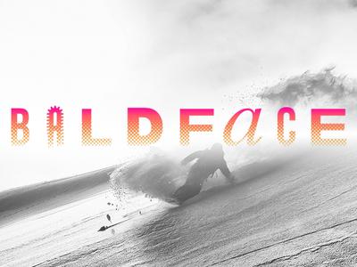 Baldface: The Temple of Snowboarding Logo post modern typography logo content design interactive storytelling design gore-tex volcom mountains snowboarding teton gravity research tgr