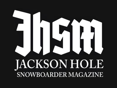 Jackson Hole Snowboarder Magazine Logo blackletter typography logo publication editorial magazine wyoming mountains snowboard snowboarding snowboarder jackson hole